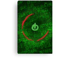 Red Ring Of Death Poster Canvas Print