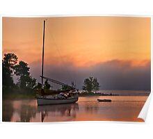 Sail boat at Pinhey's Point Poster