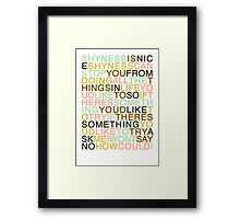 Ask - The Smiths Framed Print