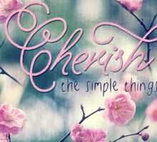 Cherish the Simple Things Pink Plum Blossoms Sticker