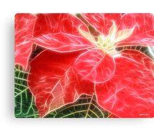 Mottled Red Poinsettia 1 Ephemeral Angelic Canvas Print
