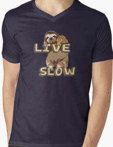 Cute Sloth - LIVE SLOW Mens V-Neck T-Shirt