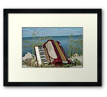 Red Accordion Framed Print