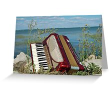 Red Accordion Greeting Card