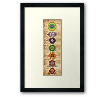 Elements of Chakras Framed Print