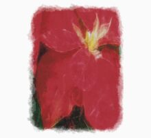 Mottled Red Poinsettia 1 Ephemeral Sketchy Baby Tee