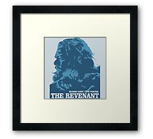 blood lost life found the revenant movie Framed Print