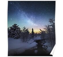 Starry Winter Night Poster