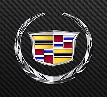 Cadillac Logo in Silver Chrome by Chromed