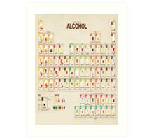 Periodic Table of Alcohol Art Print