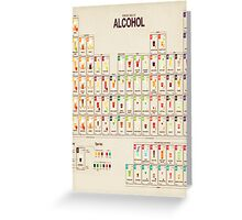 Periodic Table of Alcohol Greeting Card