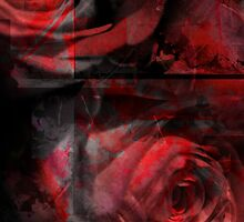 Rose Indigo Abstract 2 by MQ20