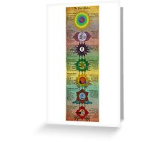 The Seven Chakras Greeting Card