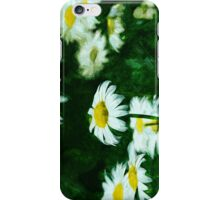 Oxeye Daisies Abstract Impressionism iPhone Case/Skin