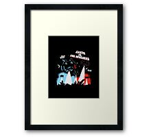Earth vs. The Invaders Framed Print
