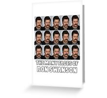The Many Faces of Ron Swanson Greeting Card
