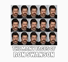 The Many Faces of Ron Swanson Unisex T-Shirt