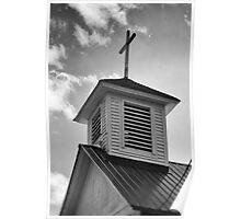 Church Steeple and Cross Poster