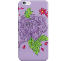 Purple Peony Tattoo Flower Phone case iPhone Case/Skin