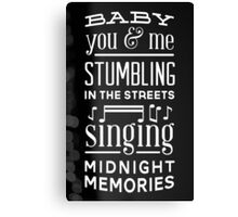 Midnight Memories Canvas Print