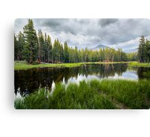 Yosemite Mini Lake Reflection Canvas Print