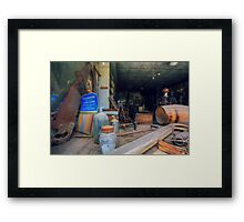 Abandoned Hardwares in Bodie Ghost town Framed Print