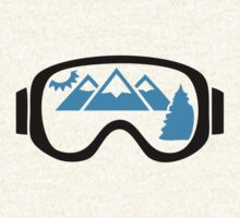 Ski goggles mountains by Anthor-Store