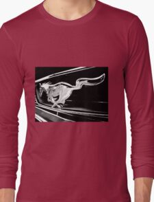 Black and White - '66 Mustang grill (2013) Long Sleeve T-Shirt
