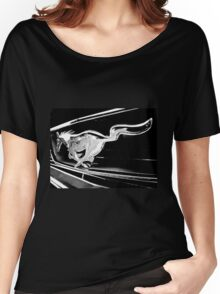 Black and White - '66 Mustang grill (2013) Women's Relaxed Fit T-Shirt
