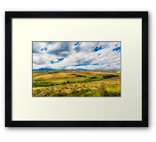 Landscape view from Freeway 395 - California Framed Print