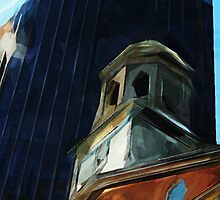Boston Old State House Abstract Impressionism by pjwuebker