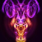 Aries - Zodiac Lightburst - Greeting Card by ifourdezign