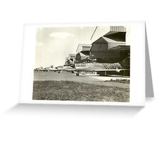 F-86D On Alert at O'Hare Greeting Card