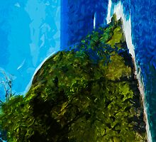 Ocean Cliff On the Road to Hana Maui Abstract Impressionism by pjwuebker