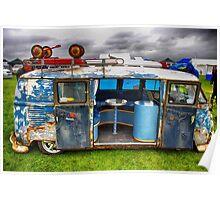 The 'BENCH Jeans' Vw Split Screen custom Van Poster