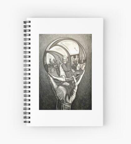 Ben with Reflective Globe - David Blancas Spiral Notebook