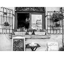 Romantic Coffee Stop Photographic Print