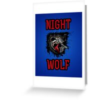 Scary Night Wolf Greeting Card