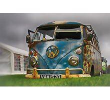 The 'BENCH Jeans' Vw Split Screen custom Van - Head on Photographic Print