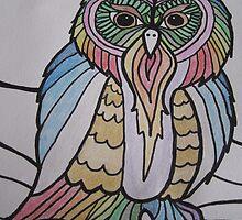 Rainbow Owl by JayVolantes