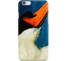 Mute Swan Abstract Impressionism iPhone Case/Skin
