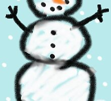 Childlike Snowman by Holly Newsome