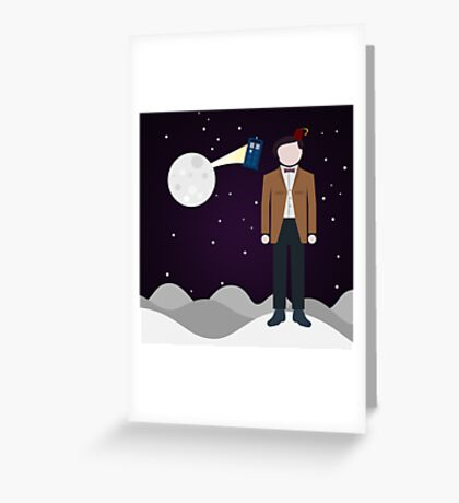 Mad man with a box Greeting Card
