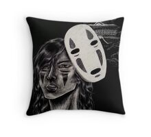Spirited Away No-Face Personified Throw Pillow