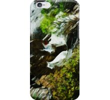 Mountain Goat and Baby Abstract Impressionism iPhone Case/Skin