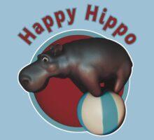 Happy Hippo Tumbler Kids Tee