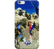 Mount Rushmore Hall of States Abstract Impressionism iPhone Case/Skin
