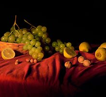 Grape,lemons and nuts by giuseppe  cinque