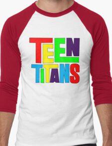 Teen Titans Multicolor Men's Baseball ¾ T-Shirt