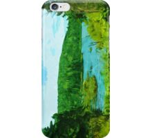 Northern Minnesota Lake in Summer Abstract Impressionism iPhone Case/Skin
